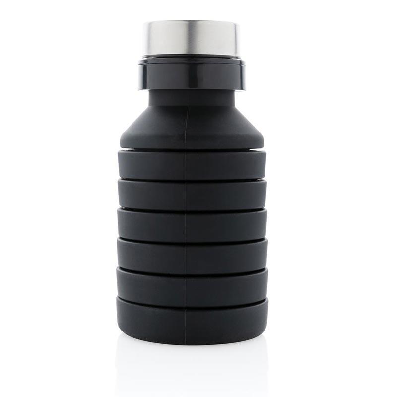 Gourde publicitaire silicone noir Néon