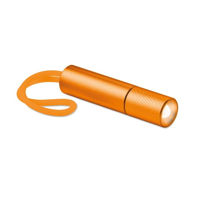 Objet publicitaire - Lampe de poche personnalisée Mini Glow avec lanière phosphorescente