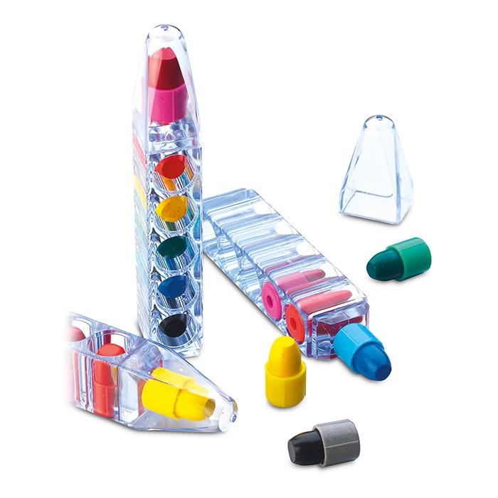 Stylo publicitaire pour enfants - Set de crayons personnalisés cire Magic