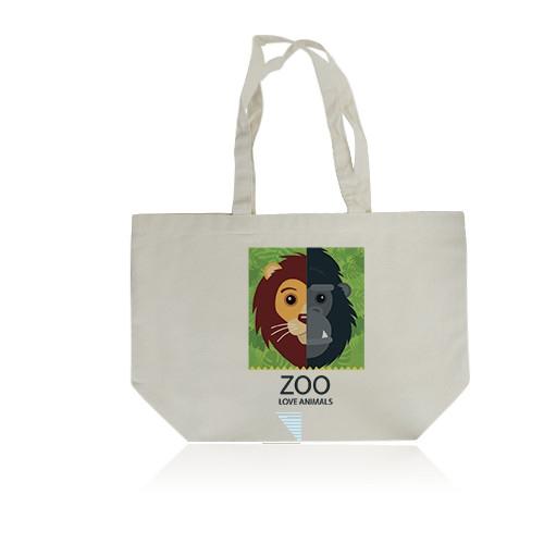 Grand sac shopping publicitaire écologique Quadribag