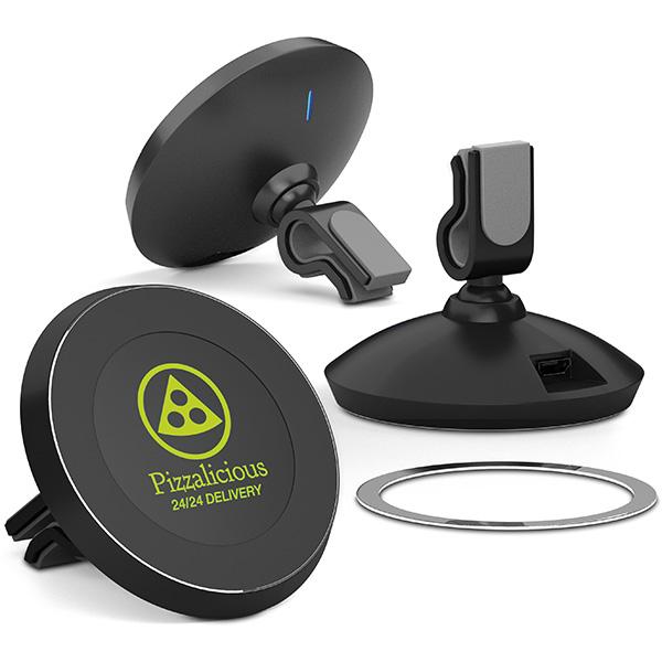 Support personnalisé pour voiture à induction Magnetic - support pour téléphone publicitaire