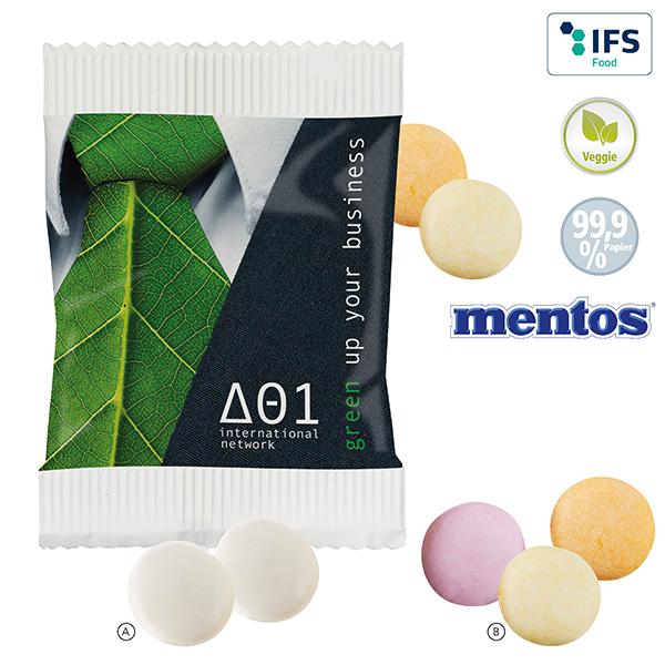 Mentos® duo en sachet papier FSC personnalisable
