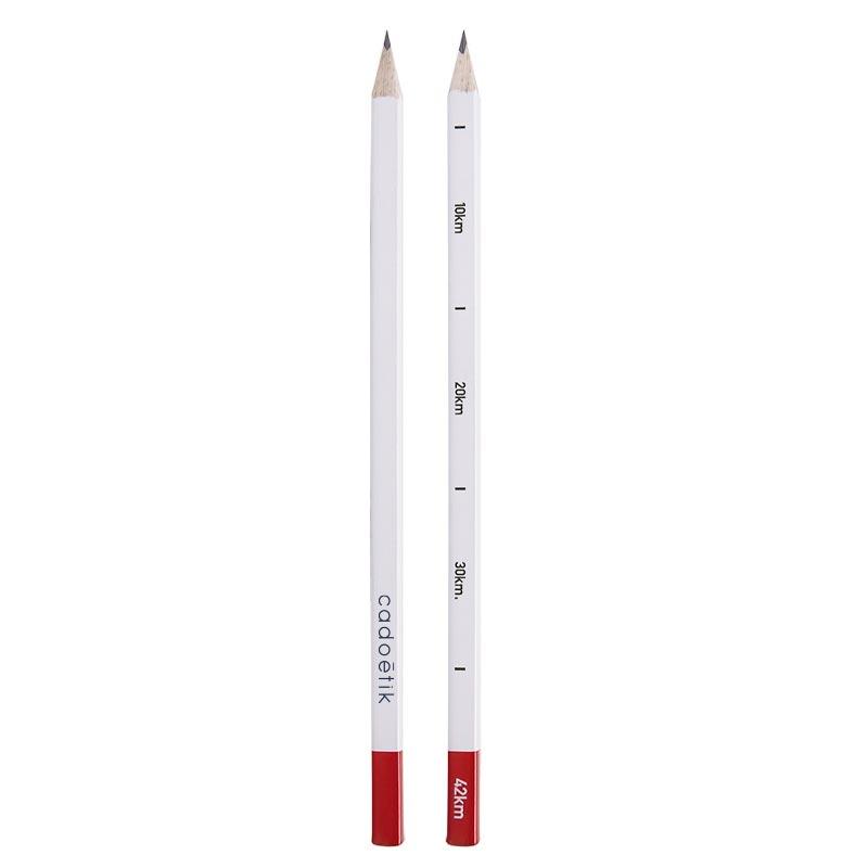 crayon à papier publicitaire forme carrée Borne