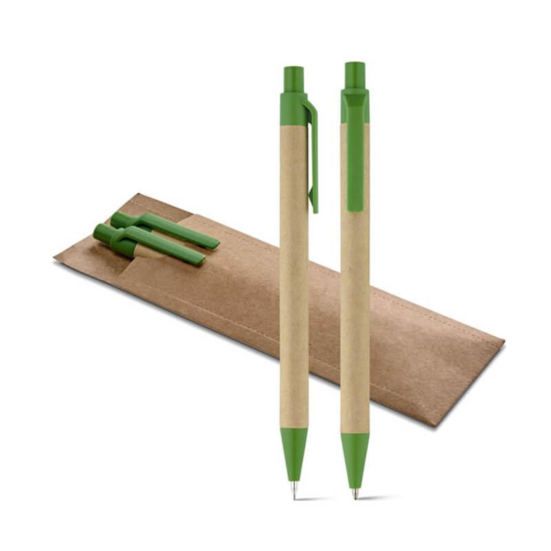 Parure de stylos en kraft Leafy