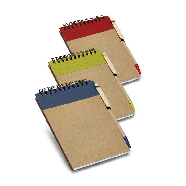 Carnet personnalisable écologique Diaries naturel/bleu - goodies écologique