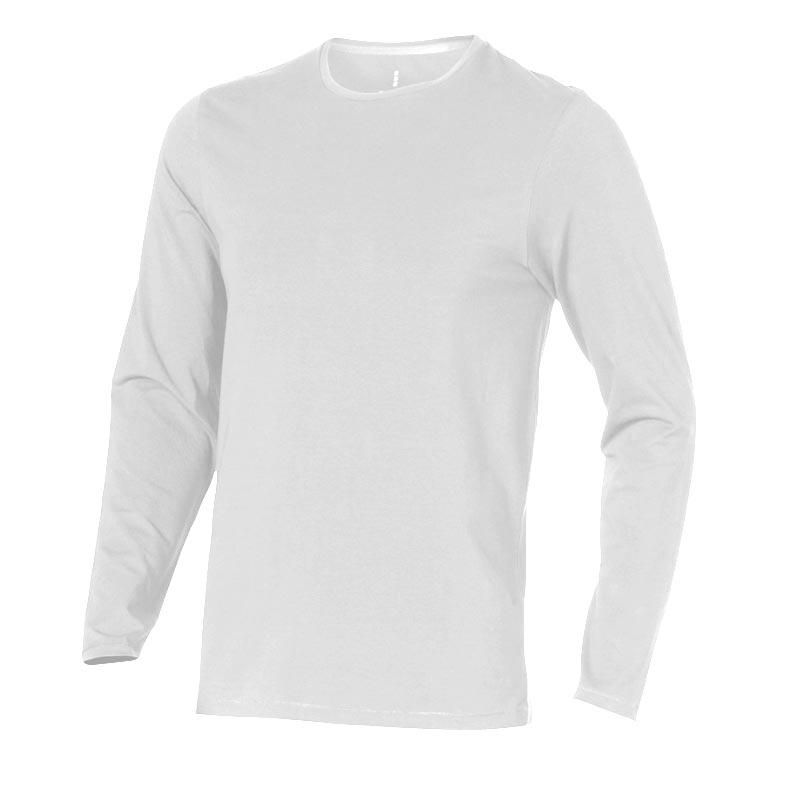 T-shirt bio publicitaire manches longues pour homme Ponoka  - tee-shirt bio personnalisable noir
