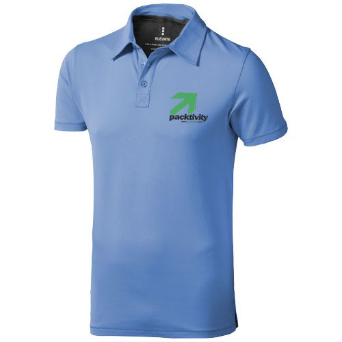 Polo manches courtes bleu publicitaire pour homme