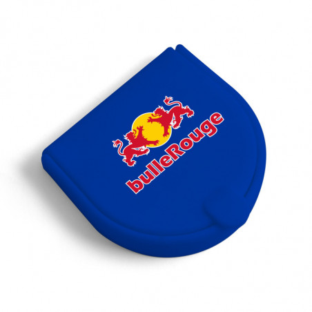 Porte-monnaie publicitaire en silicone bleu Herradura