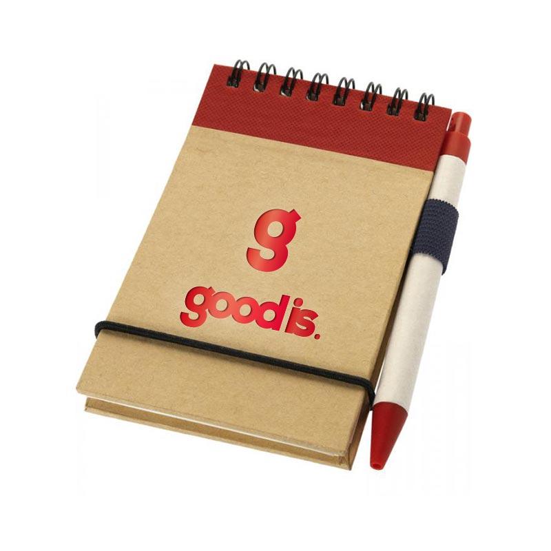 Goodies d'entreprise - Bloc-notes avec stylo Zuse