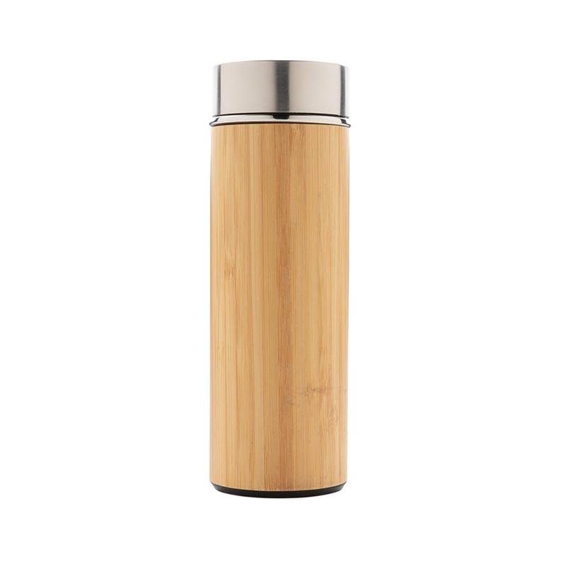 Cadeau d'entreprise écologique - Bouteille isotherme en bambou Ecox