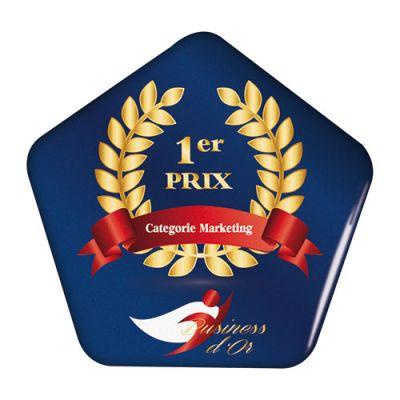 Badge personnalisable Pentagonal 6 X 5.8 cm - Goodies badges