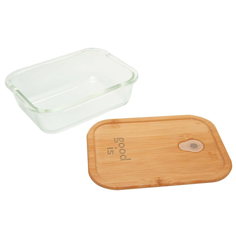 Bento personnalisé en verre et bambou Iwaki - lunch box publicitaire