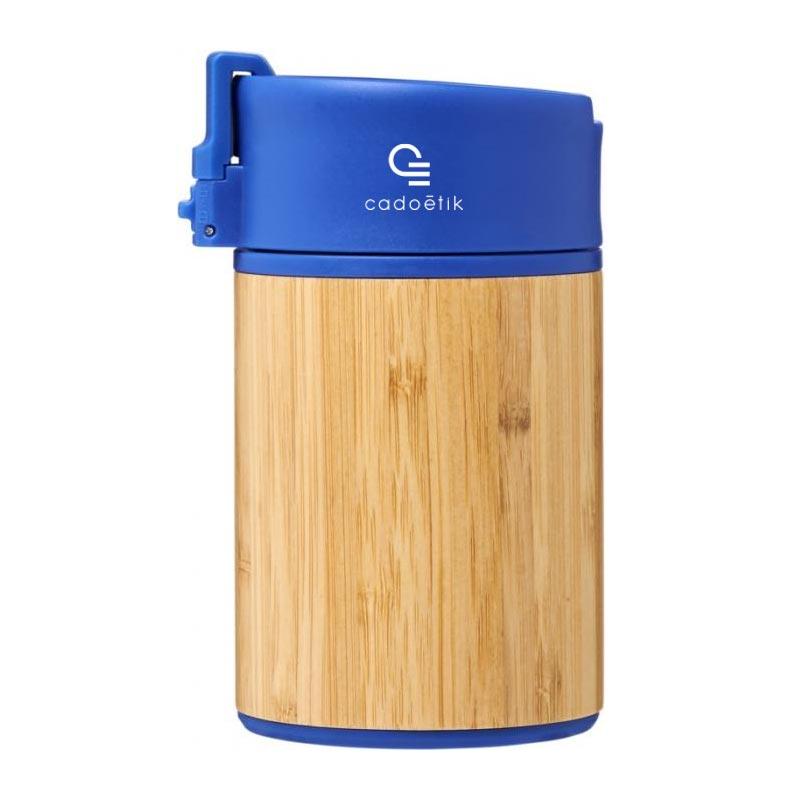 Mug de voyage publicitaire en bambou Arca - Coloris bleu