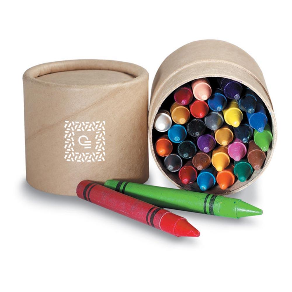 Set de 30 crayons de cire - Objet publicitaire