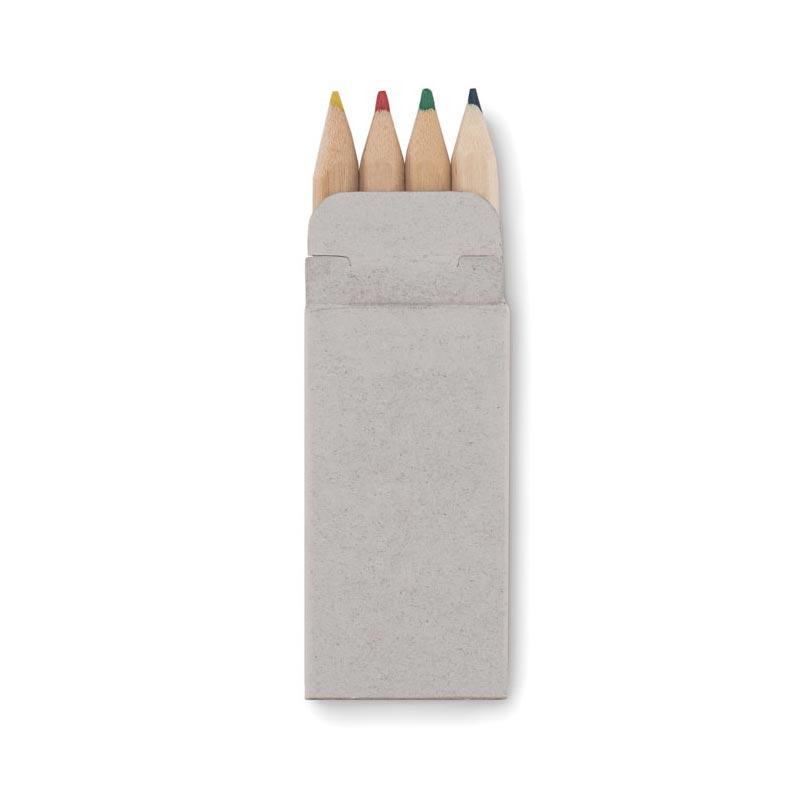 Boite de 4 crayons de couleur publicitaires Petit Abigail