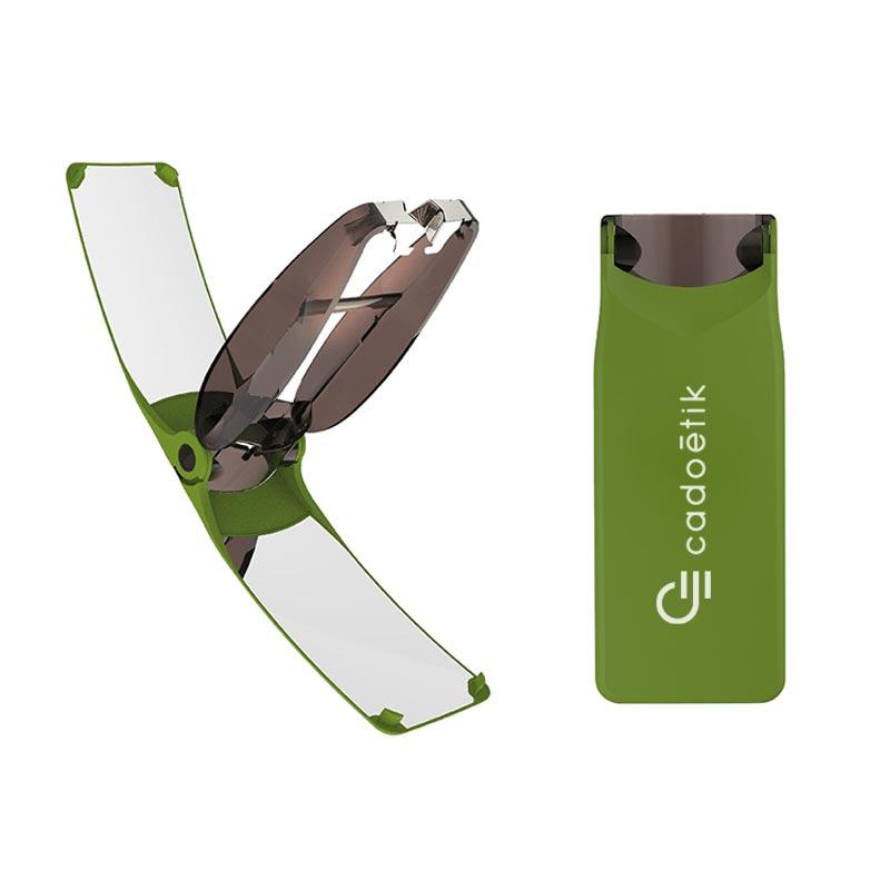 Briquet solaire publicitaire Suncase Gear - Coloris vert