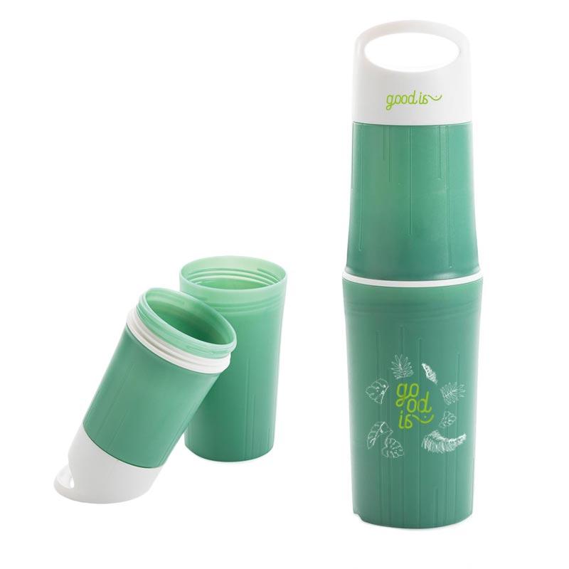 Bouteille publicitaire en PLA BeO - Goodies écologique