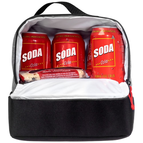 Sac isotherme publicitaire double Kube - Sac repas