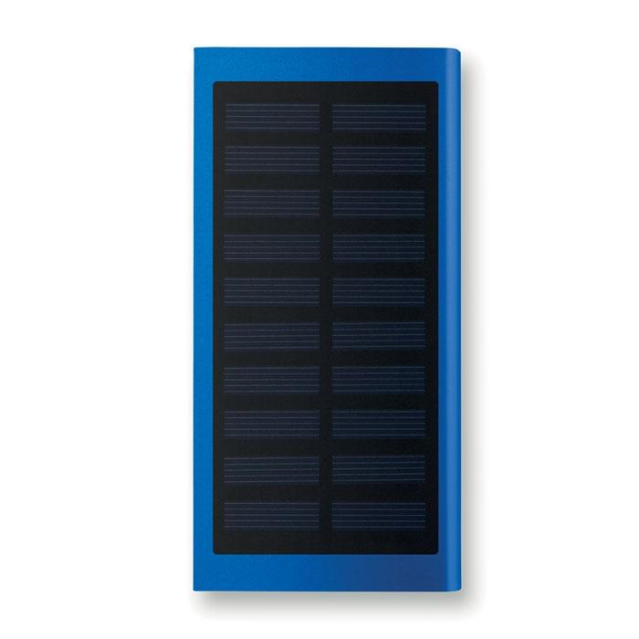 Powerbank solaire publicitaire Solar Powerflat - argent mat