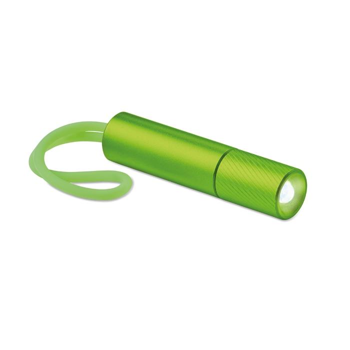 Cadeau d'entreprise - Lampe de poche personnalisée Mini Glow avec lanière phosphorescente