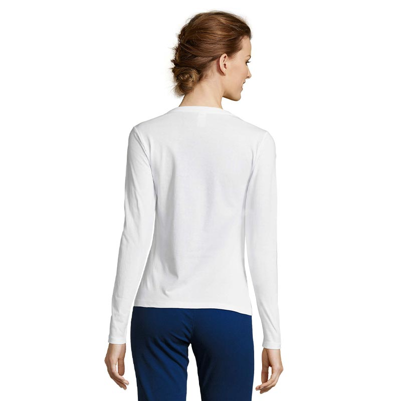 t-shirt femme publicitaire vue de dos Majestic