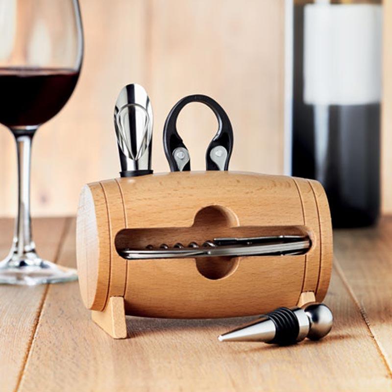 Set à vin publicitaire bois Bota mise en situation