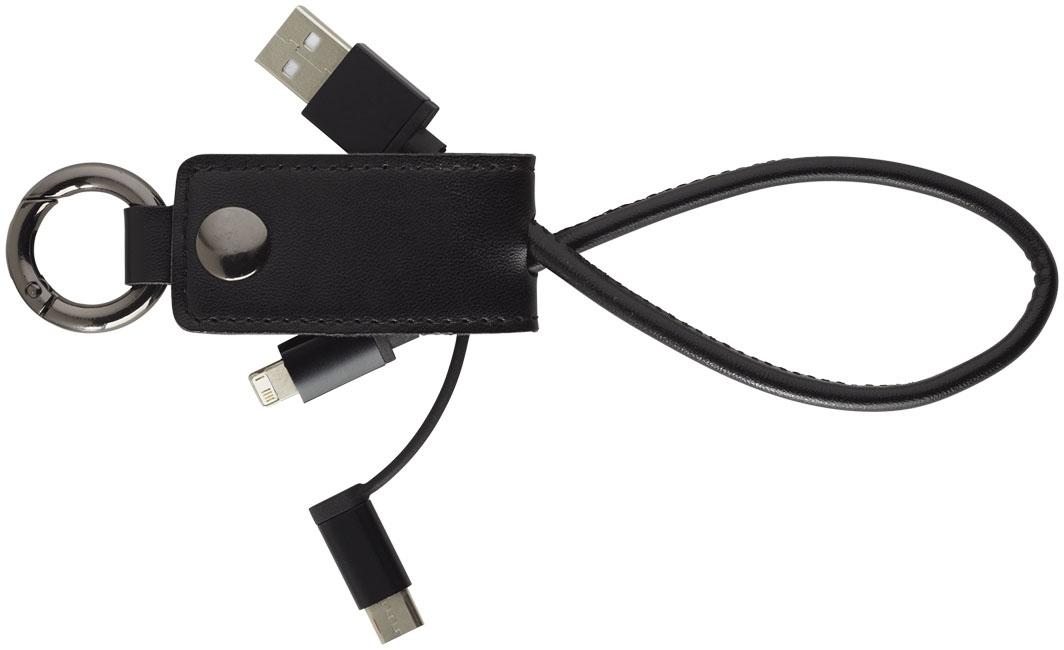 Câble de chargement publicitaire 3 en 1 Posh - câble de chargement personnalisé