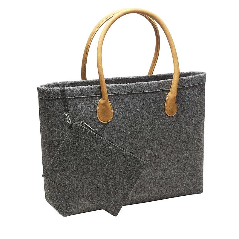 Sac shopping publicitaire Classic - poignée en cuir velours