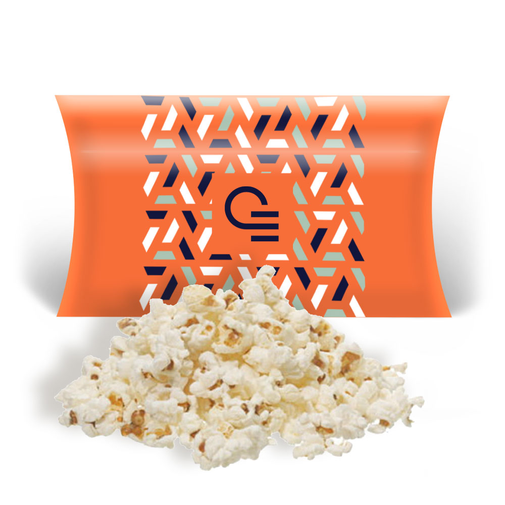 Popcorn publicitaire micro-ondes sucré ou salé en carton