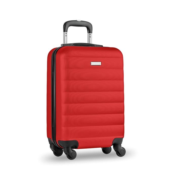 Trolley publicitaire rouge  Budapest - cadeau d'entreprise voyage