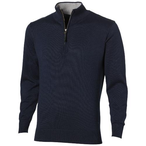 Pullover coton personnalisable col zip Set noir - textile publicitaire