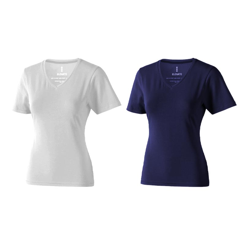 Textile publicitaire - T-shirt bio personnalisé manches courtes pour femmes Kawartha