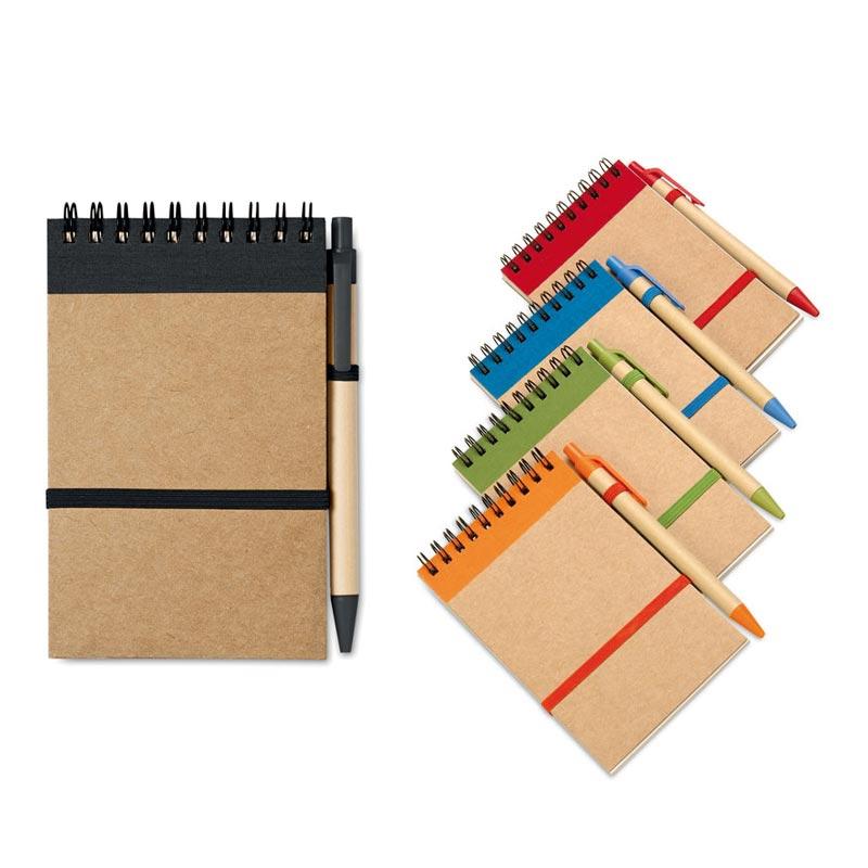bloc notes recyclé et stylo publicitaire