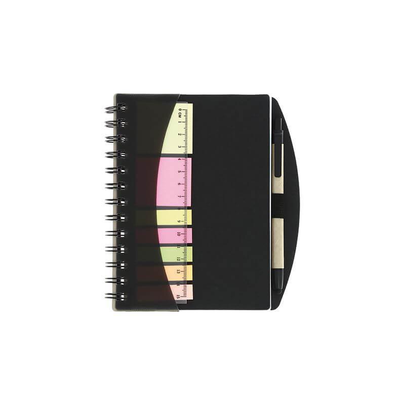 Papeterie publicitaire - Carnet et stylo avec notes Trio