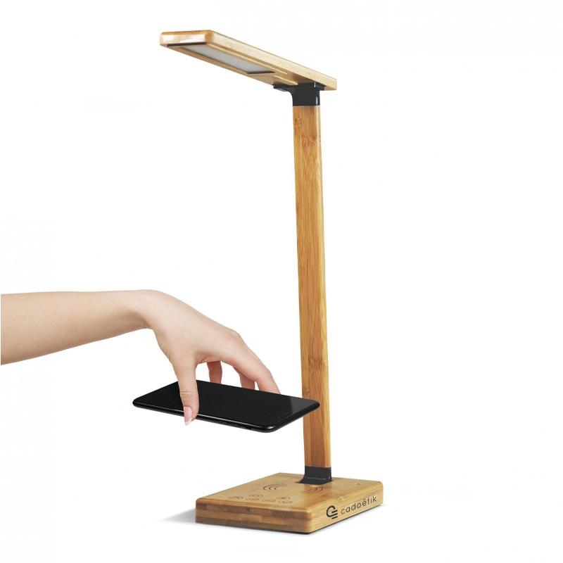 Lampe de bureau personnalisée Induled avec chargeur induction