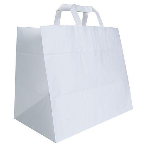 Sac traiteur personnalisé Doggy Bag PM - sac kraft publicitaire blanc