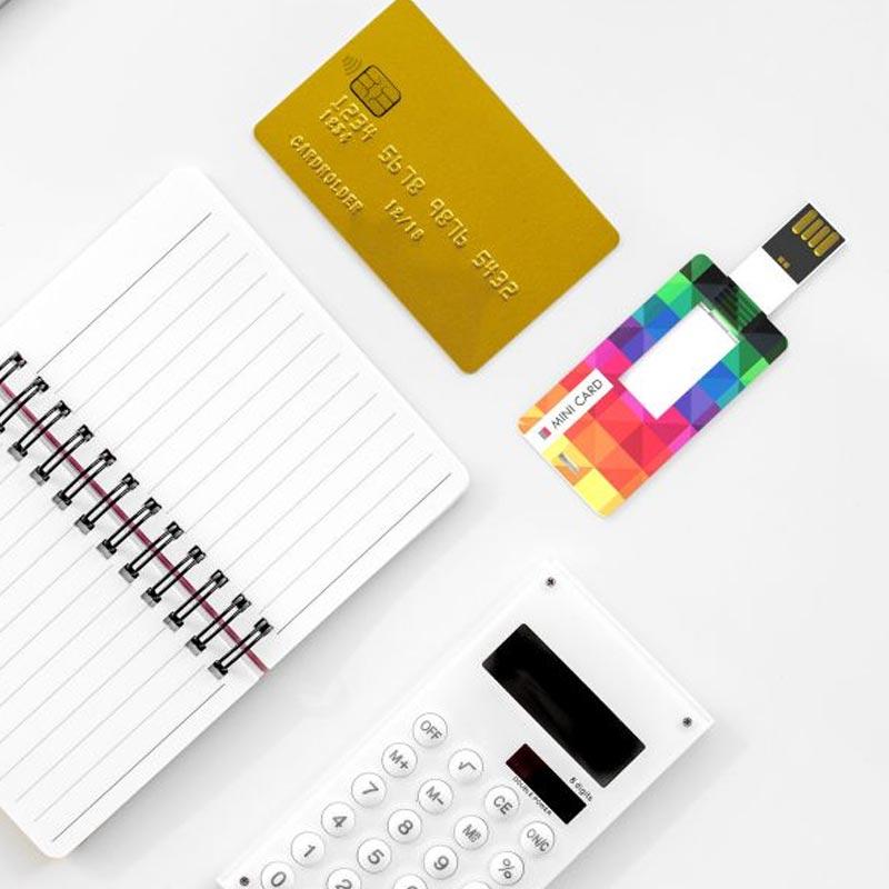 Clé USB publicitaire carte de crédit Mini  - Clé USB personnalisable
