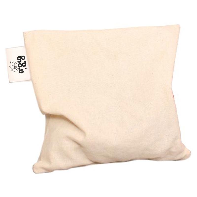 Coussin de cerise publicitaire en coton bio 1 compartiment - Étiquette personnalisable