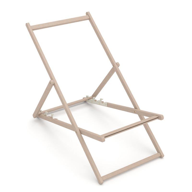 Structure en bois de la Chaise longue publicitaire Chilienne