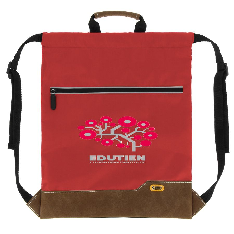 Sac à dos publicitaire Bic® Drawstring Backpack SP noir - cadeau publicitaire