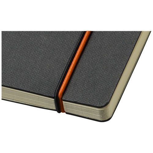 Bloc-notes personnalisable avec elastique vert