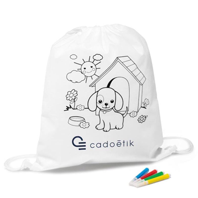 Tote bag publicitaire - Sac à dos à colorier Snoopy