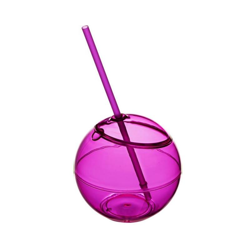 Verre personnalisable - Ballon Fiesta avec paille