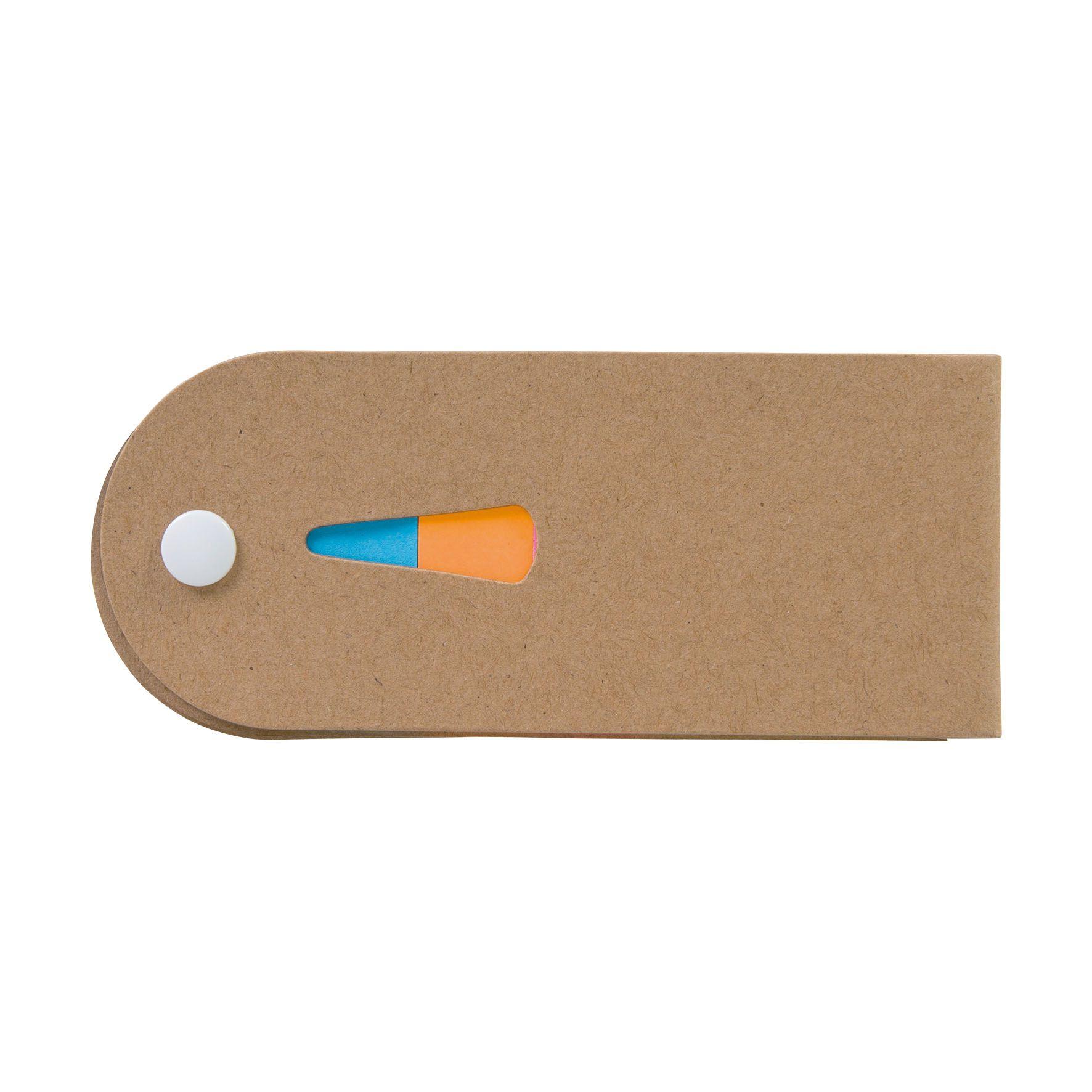 Mini bloc-notes publicitaire adhesifs Coulice - objet publicitaire