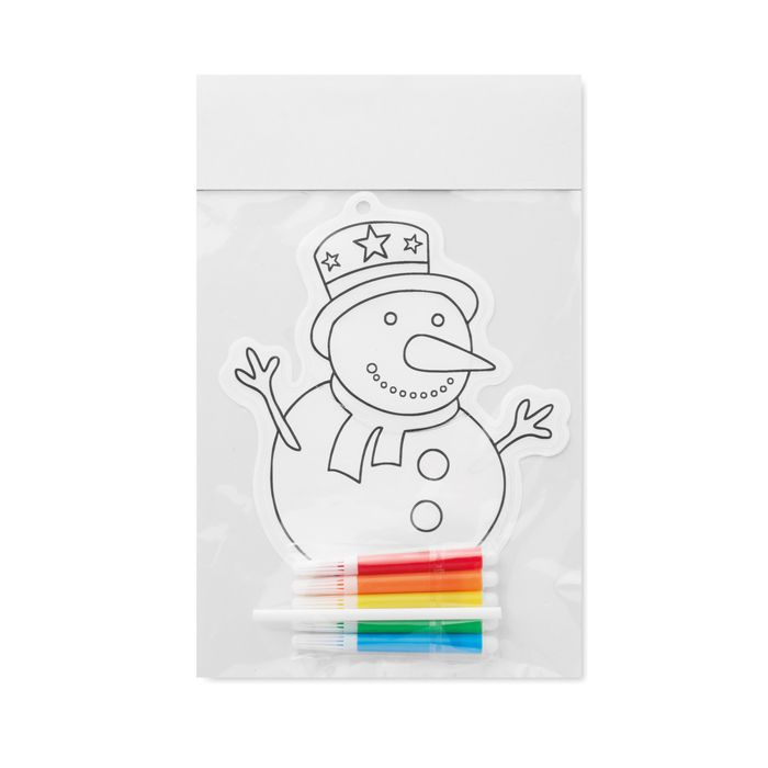 Cadeau d'entreprise - Ballon à colorier publicitaire Snowball