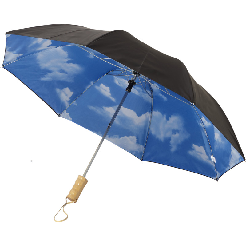 """Parapluie publicitaire automatique 21"""" Blue skies en polyester"""