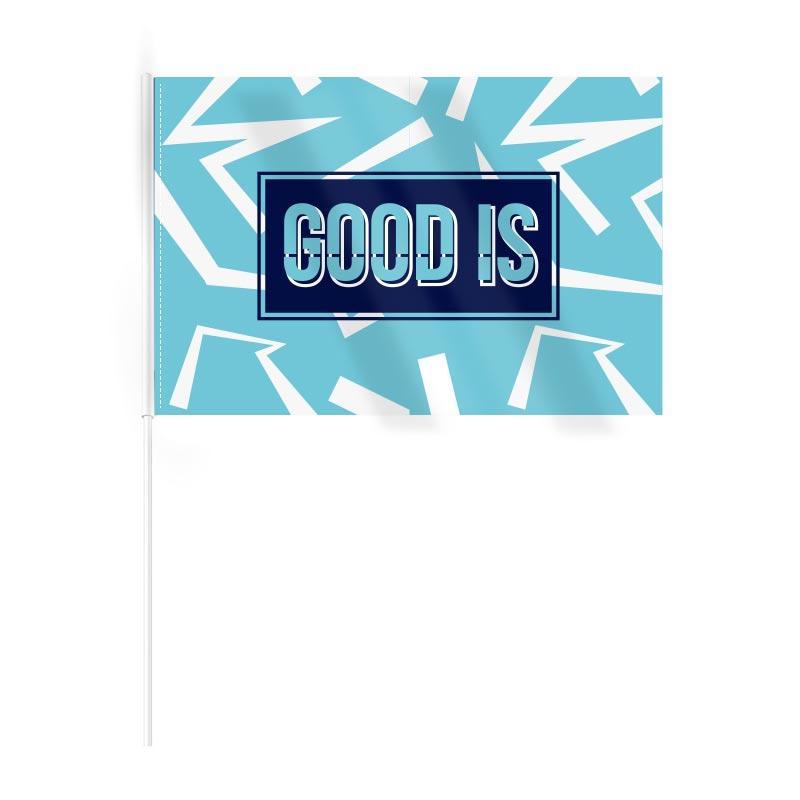 Drapeau publicitaire en rPET Ecoflag - Goodies pour événement