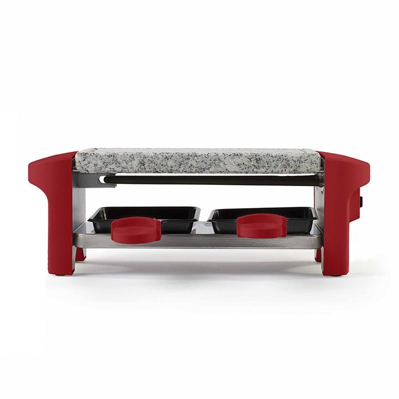 Appareil à raclette publicitaire 2 personnes Queso - Coloris rouge