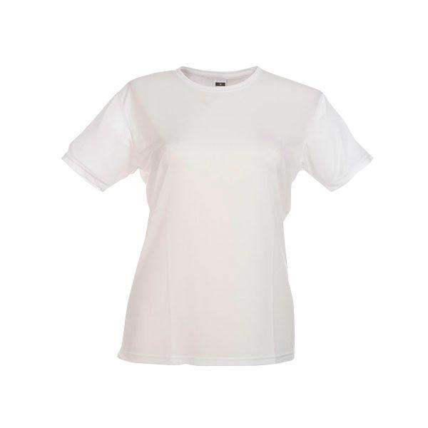 T-shirt personnalisé technique femme Nicosia B - blanc