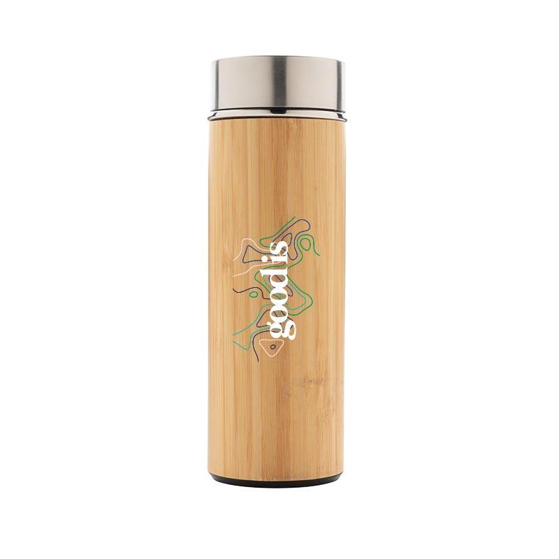 Bouteille isotherme promotionnel en bambou Ecox